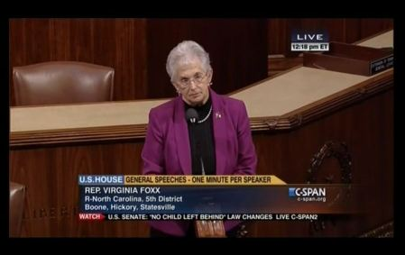 Rep. Virginia Foxx defund Planned Parenthood 2