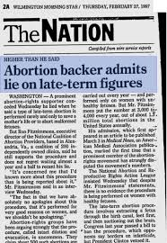 Ron Fitzsommons Lie partial birth abortion 2