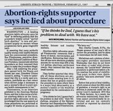 Ron Fitzsommons Lie partial birth abortion