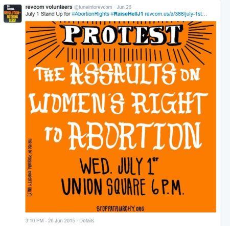 Stop Patriarchy Union Square abortion