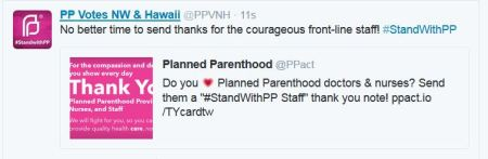 Thank PP Stand with Planned Parenthood