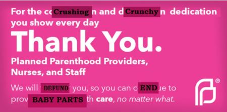 Thank you from prolife Planned Parenthood