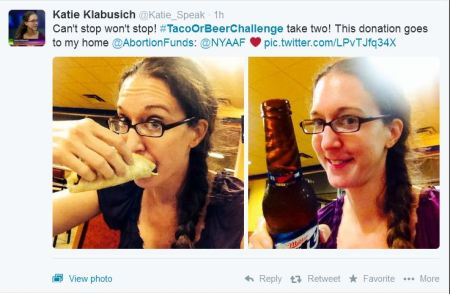 2014 Taco and Beer abortion challenge