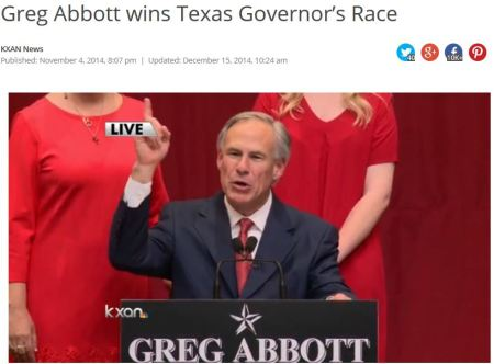 Greg Abbott wins Texas election