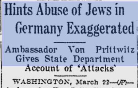 Hitler abuse of Jews exaggerated