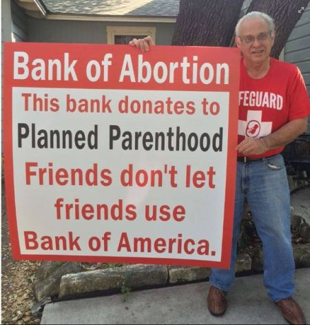 John Pisciotta Bank of America Planned Parenthood