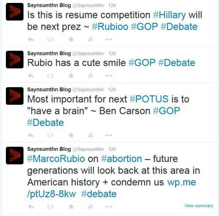 Marco RUbio abortion GOP DEbate resume Hillary