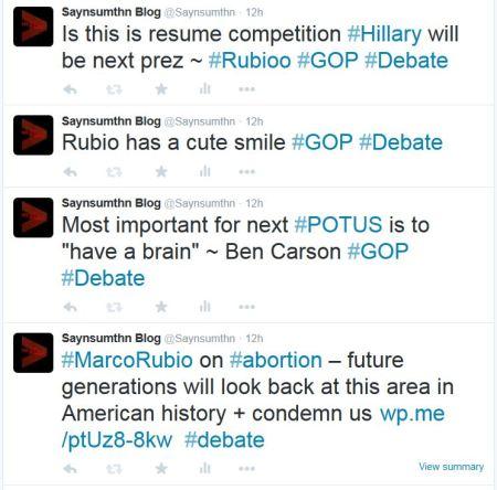 Marco RUbio abortion GOP DEbate resume Hillary