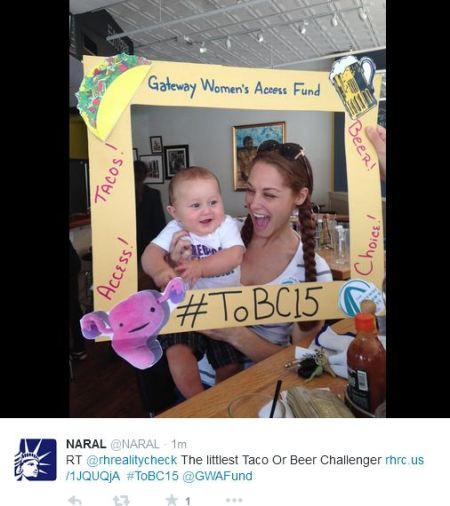NARAL TAco and Beer challenge 2015 Baby'