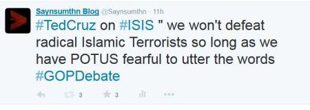 Red Cruz on Terrorism GOP DEbate Radical Islam
