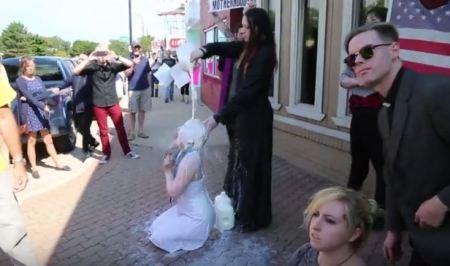 Satanists milk PLanned Parenthood