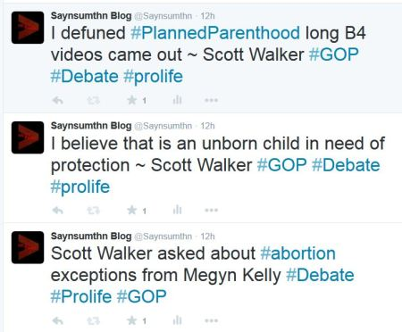Scott Walker Planned Parenthood abortion GOP Debate