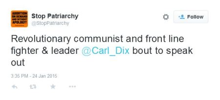 Stop Patriarchy Carl Dix Revolutionary COmmunist