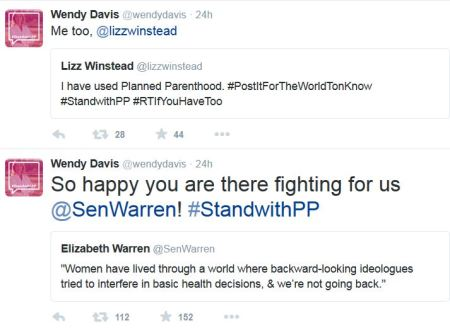 Wendy Davis August Planned Parenthood tweets