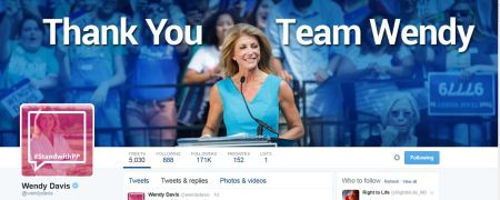 Wendy Davis twitter Stand with Planned Parenthood