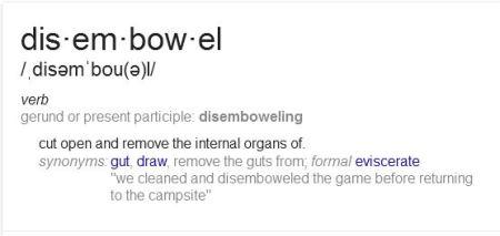 Disembowel