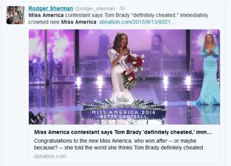 Miss America Tom Brady