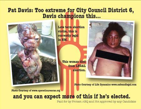 Pat Davis ABQ abortion mailer