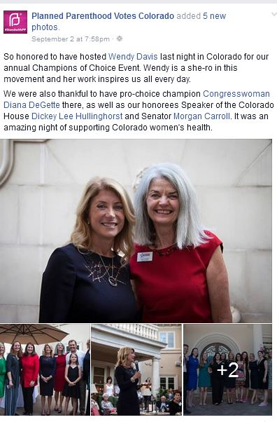 Planned Parenthood votes colorado Wendy Davis PPRM