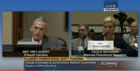 Trey Gowdy Cecile RIchards Partial Borth Abortion