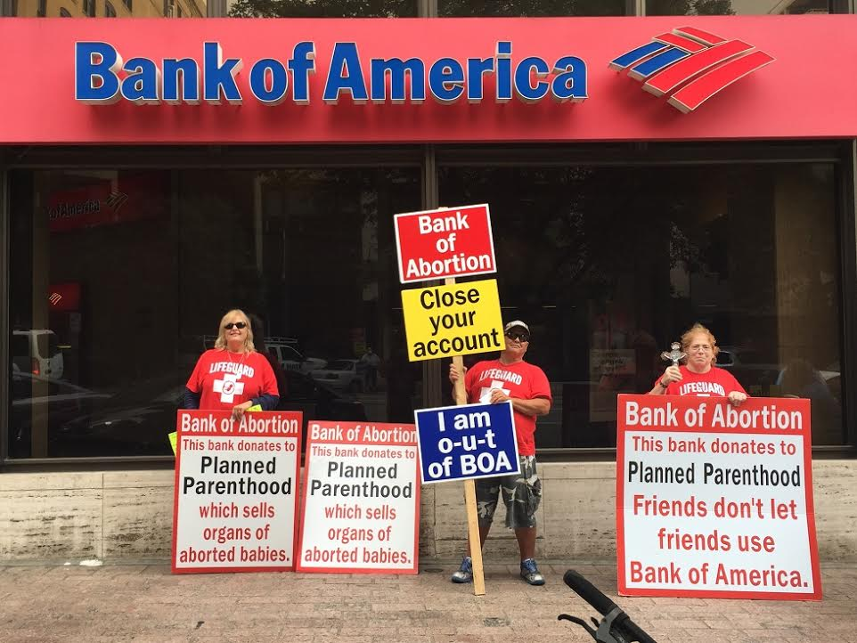 bank of abortion why a texas pro life group is protesting