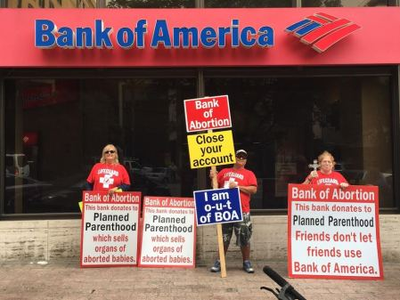 Bank  of America Planned Parenthood prolife waco oct 2015
