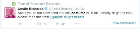 Cecile Richards Lena Funham abortion costume