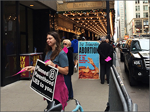 Pro-lifers Protest the Forum on Family Planning in Chicago [Photo by Matt Yonke]