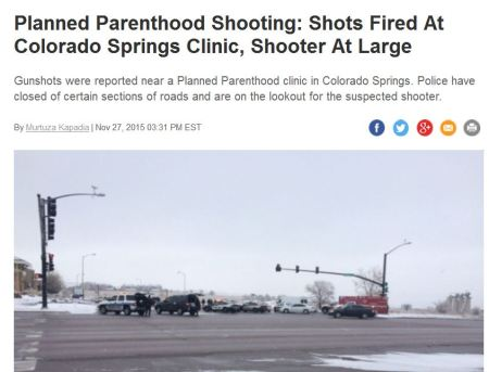 Shots fired Planned Parenthood