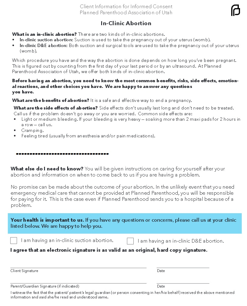 Abortion Consent form | Saynsumthn's Blog
