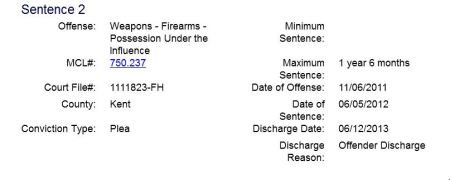 Thomas J Gordon weapons charges
