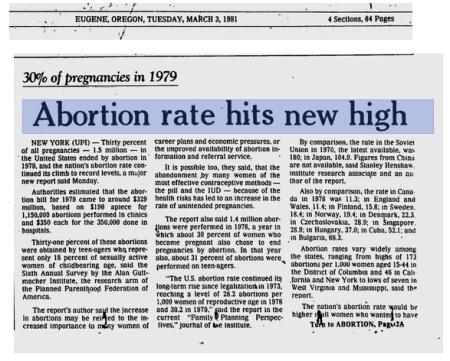1981 GUttmacher research arm planned parenthood 2