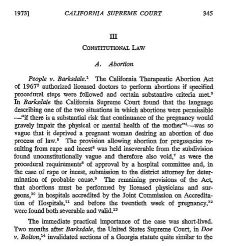 California abortion law 1967