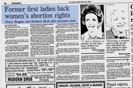 Nancy Reagan pro abortion