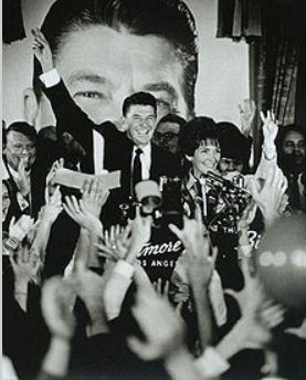 Ronald and Nancy Reagan celebrate Reagan's gubernatorial victory