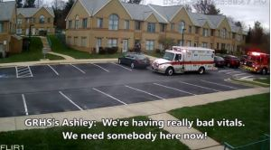 Ambulance arrives at Carhart abortion clinic
