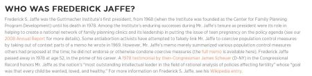 Guttmacher describes Frederick Jaffe