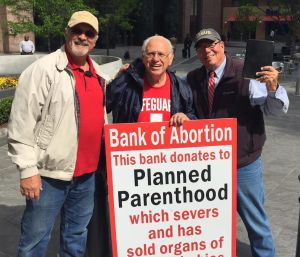 John Pisciotta and Flip Benham Protest BOA for SUpport of PLanned Parenthood