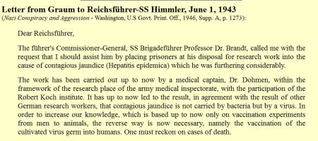 Nazi Letters medical experiments
