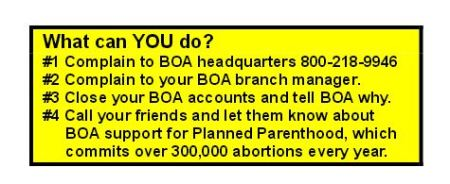 ProtestBOA WHat can you fo flyer