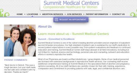 Summit Medical Center website