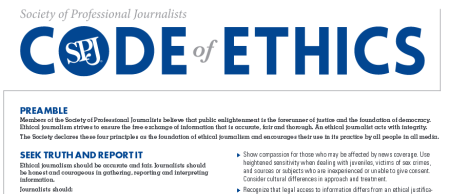 Journalist Code of Ethics Seek Truth