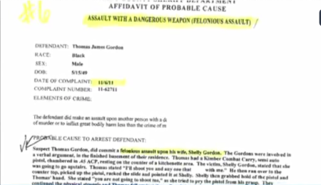 Shelly Gordon 2012 assault  Thomas Gordon abortion