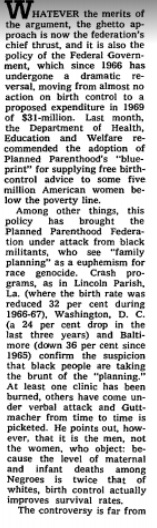 Image: Guttmacher plan to force taxpayers to fund birth control (Image: NYT 02/02/1969)