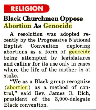 Article on Black abortions