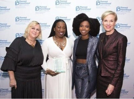 Image: Tarana Burke awarded by Planned Parenthood