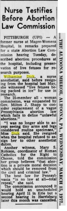 Image: article 1972 Nurse testifies about living human fetuses shipped alive