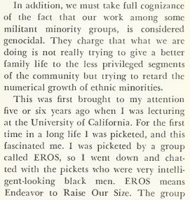 Image: article Guttmacher speaks about Blacks in 1969
