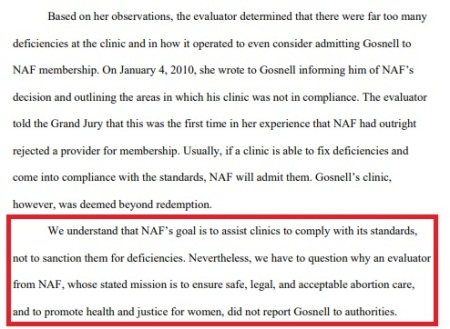 Image: Gosnell grand jury report says NAF failed to report the abortionist to authorities