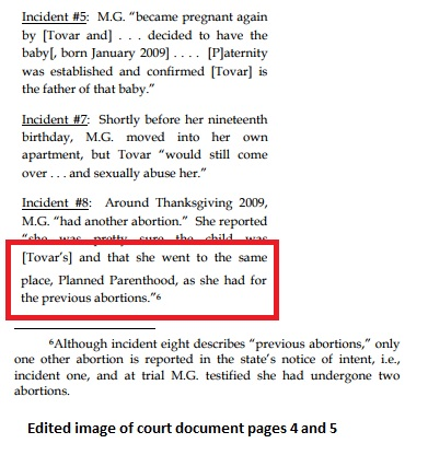 Image: Sexual abuse victim taken for abortion at Planned Parenthood